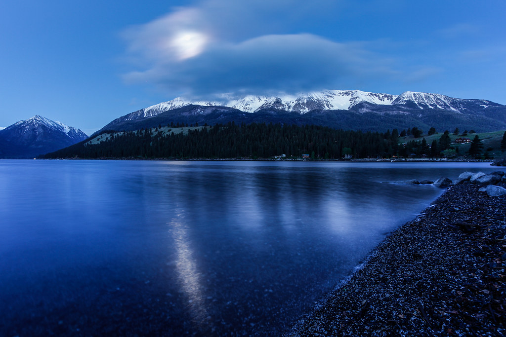 Moonset over Wallowa Lake