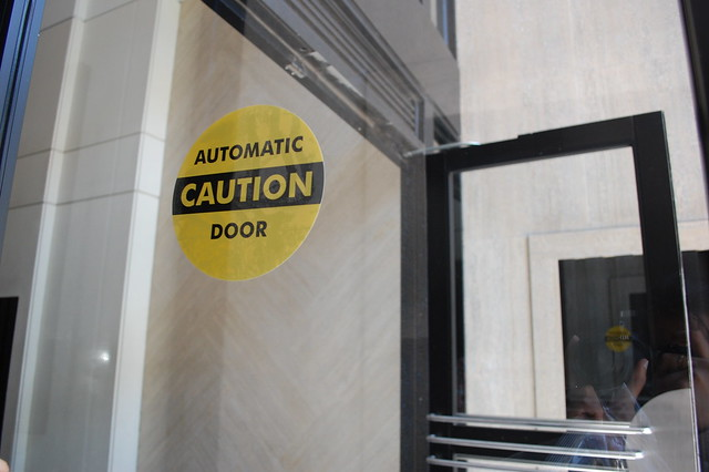 Caution automatic door please attribute this photo with