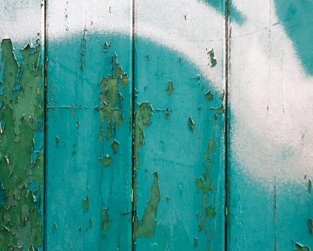 (green) things on etsy - turquoise peeling paint