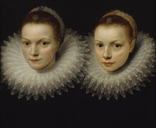 unknown / tuntematon / okänd (Cornelis de Vos?): Two sisters / Kaksi sisarta / Två systrar