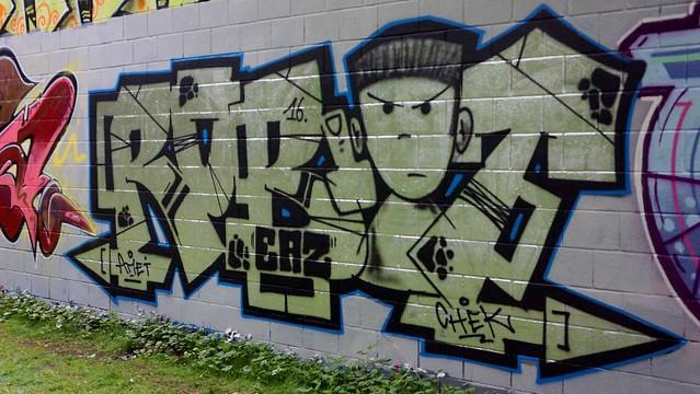 Oldenburg - Youth club Ofenerdiek ( street: Lagerstraße ) / 37th picture / Graffiti, street art