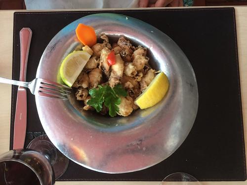 Puerto Madryn: calamars frits. Pas terrible la chapelure et pas de goût...