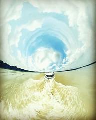 Launch journey #river #journey #travel #sky #littleworld #360 #photosphere