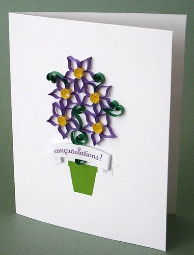 Quilled Congratulations Card