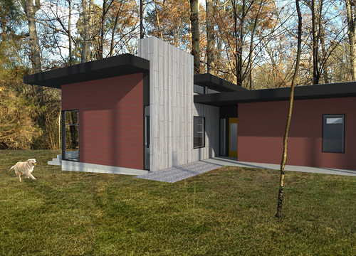 JW-Hart posted a photo:Modern and green residence in Carrboro, NC by CUBE design + research. www.CUBEdesignResearch.com, copyright.