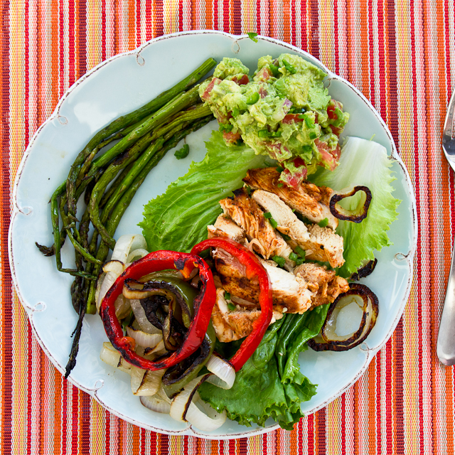 Lettuce Wrap Chicken Fajitas with Onions and Peppers