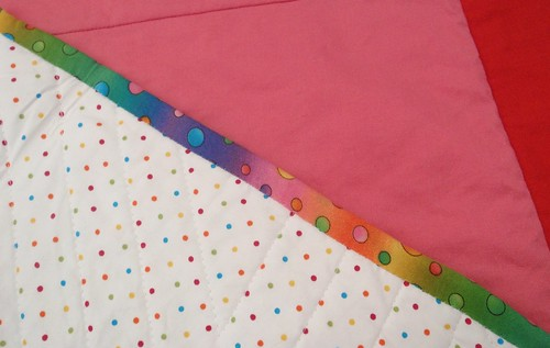 QUILT - Rainbow Star (back & binding)