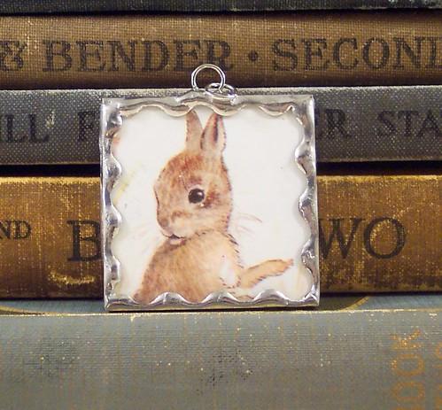 Tasha Tudor Rabbit Pendant