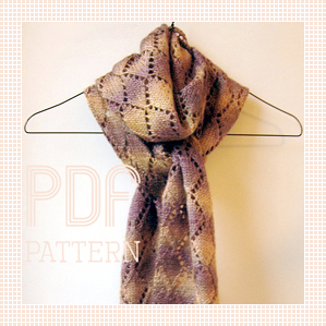 Vivienne Diamond scarf PDF pattern, by Emma Lamb