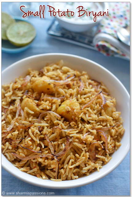 Small Potato Biryani Recipe