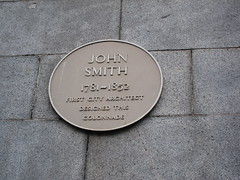 Photo of John Smith yellow plaque