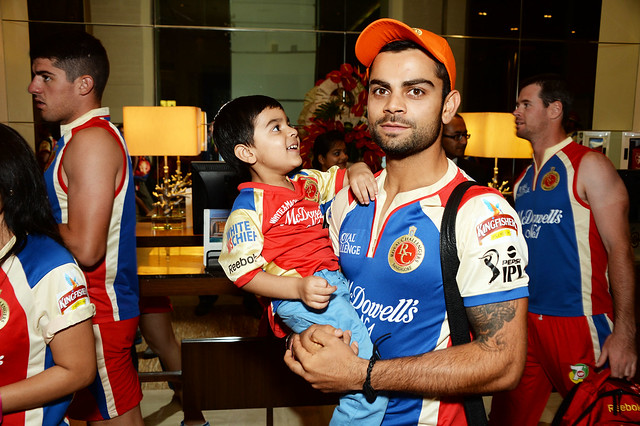 Virat Kohli with his nephew Aarav | Flickr - Photo Sharing!