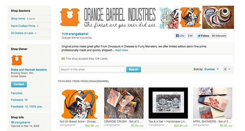 Our New Etsy Shop!