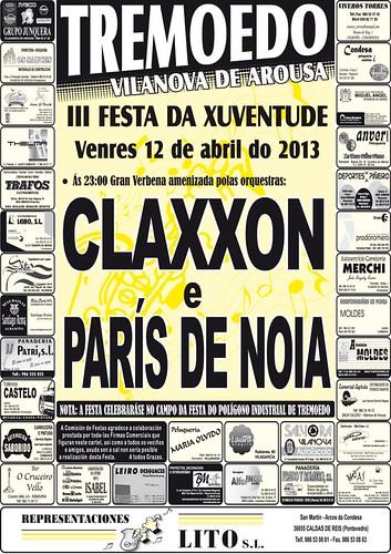 Vilanova de Arousa - III Festa da Xuventude de Tremoedo - cartel
