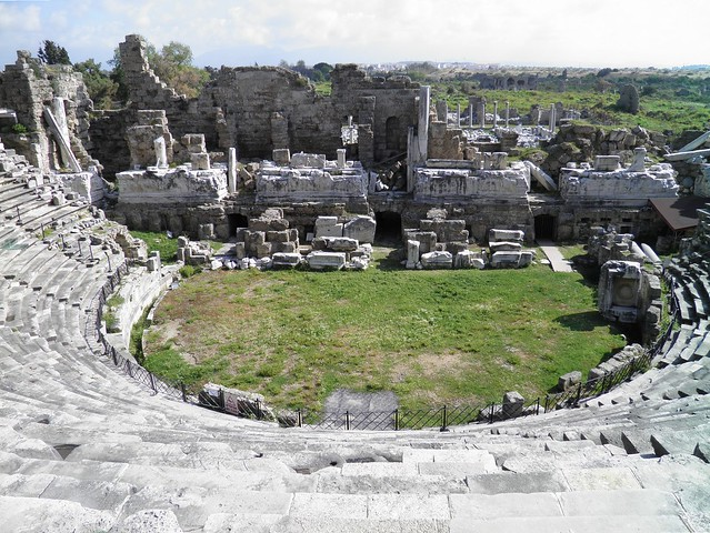 Roman Theatre, built in the 2nd century AD ca. 175 AD, Side, Pamphylia, Turkey