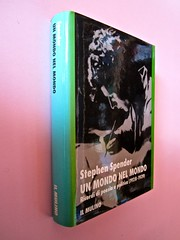 Stephen Spender. Un mondo nel mondo. Il Mulino 1992. Sovracoperta di Alberto Bernini. Dorso e prima di sovracoperta (part.), 1