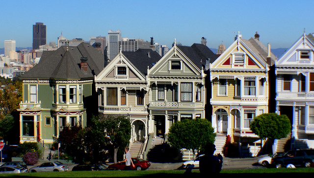 Painted ladies. San Francisco.