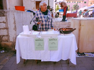 Bunyol seller at Inca market, Mallorca