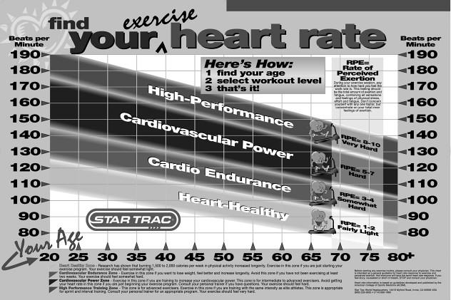 Star Trac 7600 Treadmill Heart Rate Chart