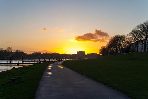 primavera sunrise germany deutschland spring amanecer alemania bremen weser sonnenaufgang frühling viertel osterdeich