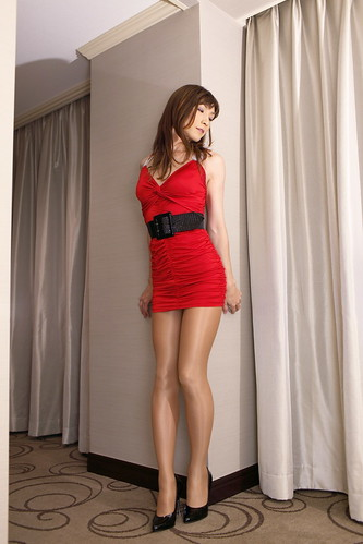 Red mini dress_10 by Kyoko Matsushita