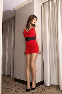 Red mini dress_10