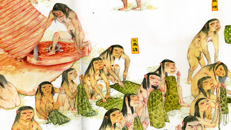 Mu Pan's China Myth - Mighty Peking Men (detail 3)