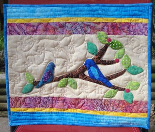 Blue Birds wall hanging