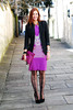 Purple dress & black blazer | Freak Factory SS13