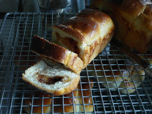 Cinnamon japanese milk bread minloaf