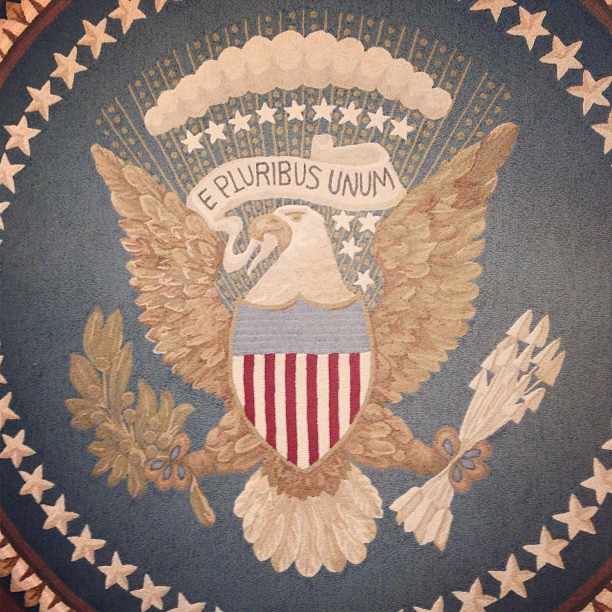 Great Seal In The Oval Office Rug #bushcenter