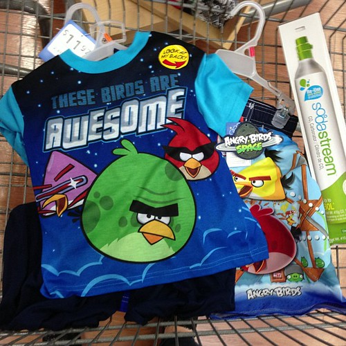 Party planning for my big  boy. Angry Bird  Space pjs  for his sleepover!