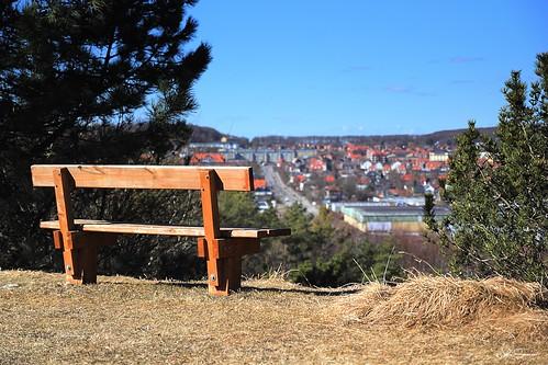 city bench denmark view hill paintshoppro tamron danmark aalborg monopod nikcolorefex3 eos60d topazdetail3