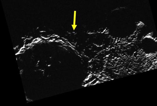 Mercurio polo sud - picco di luce eterna