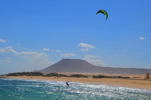 Kitesurfing na wyspie Fuerteventura