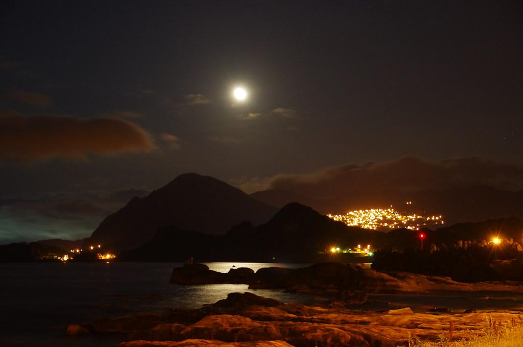山城,月光,海岸