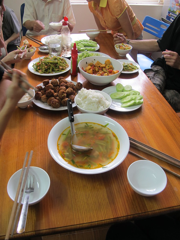 Lunch at Volunteer House - Vietnam