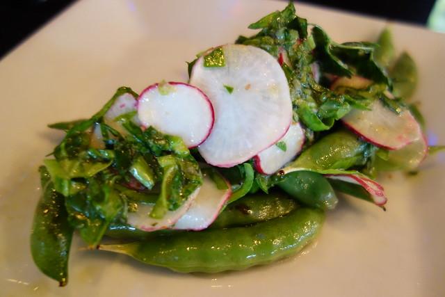 Sauteed Sugar Snap Peas Special, Malabar Spinach. Lychee & Herb Radish ...