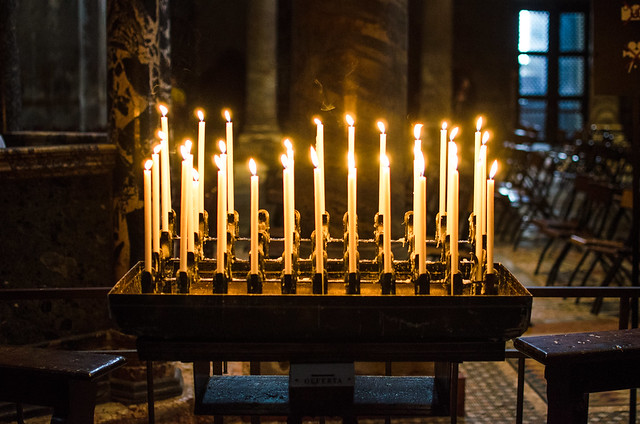 St. Mark's Basilica by candlelight.