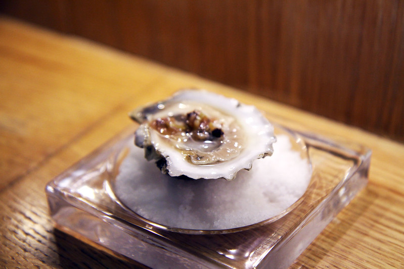 Oyster + Ramp Mignonette