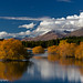 Lake Tekapo Fall Color Reflection by Robin Black Photography