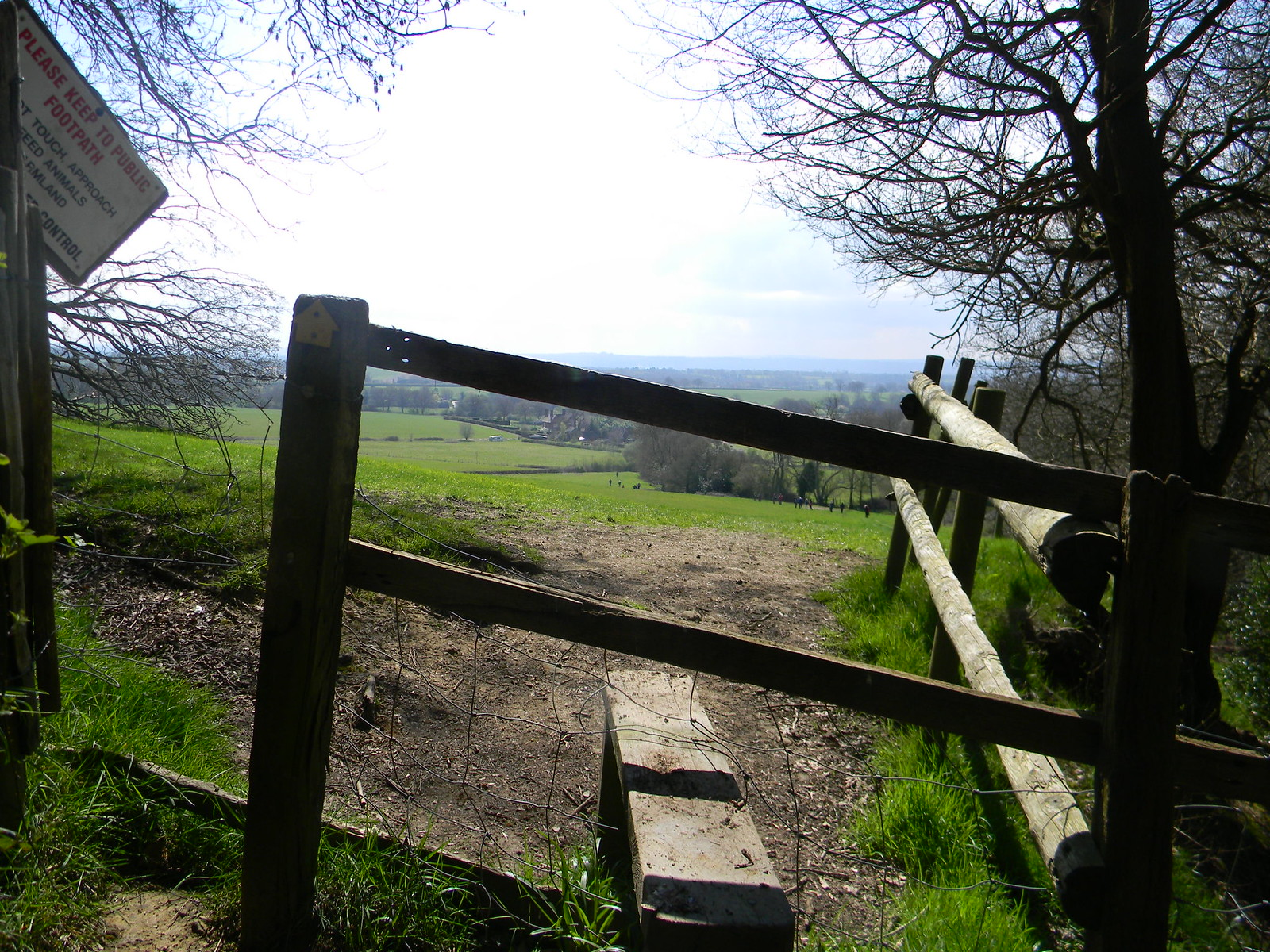 Stile with view Hurst Green to Wetherham