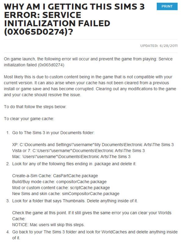 Foutcode 12 bij De Sims 3 - Pinguïntech