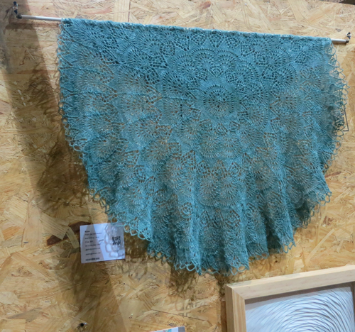 AAN2013 Shawl from Doily Pattern by Gail Belikiewicz Lace knitting in Wool