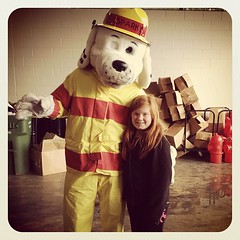 Zoë & Sparky at the Fire & Life Safety event yesterday.