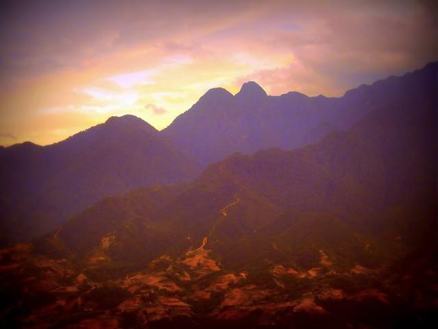 Sunset in Sapa