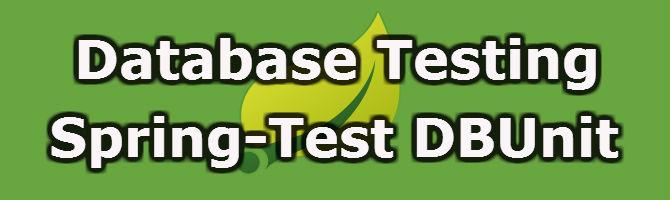 Spring-Test DBUnit