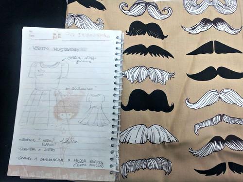 Realizzazione di un progetto: vestito baffuto