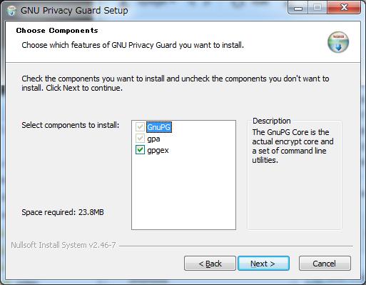 GnuPG 2.1.0 Installation