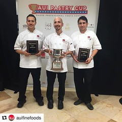 #Repost @auifinefoods ・・・ And the winner is... @vincentattali with 2nd place runner up @chefjoel1 and in 3rd place, @guillermomaganajr! Thanks to everyone who competed this week, see you all next year!  #auifinefoods #auipastrycup #dessert #champagne #cho